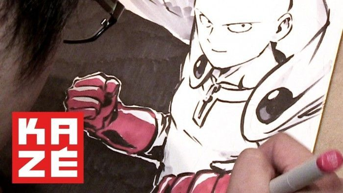 Le sublime dessin de One Punch Man sur shikishi !