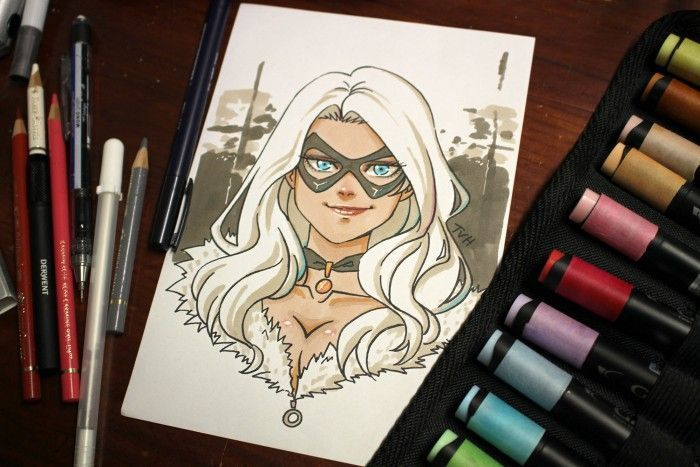 Dessiner Blackcat au Graph It