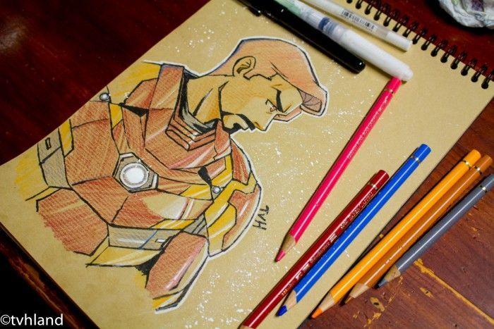 Comment dessiner d 39 iron man captain america civil war dessin sur papier kraft - Comment dessiner captain america ...