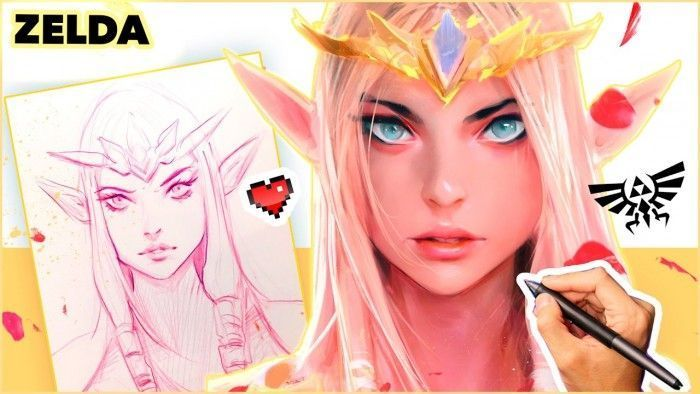 Rossdraws dessine la princesse zelda - La princesse zelda ...