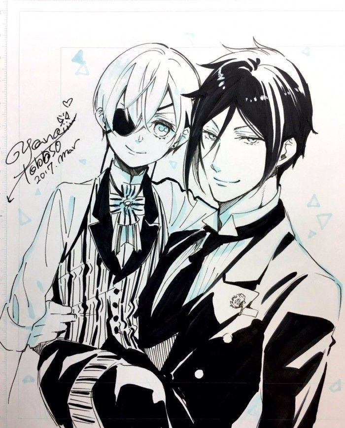 Black Butler : Dessins de la mangaka pour le  White Day !
