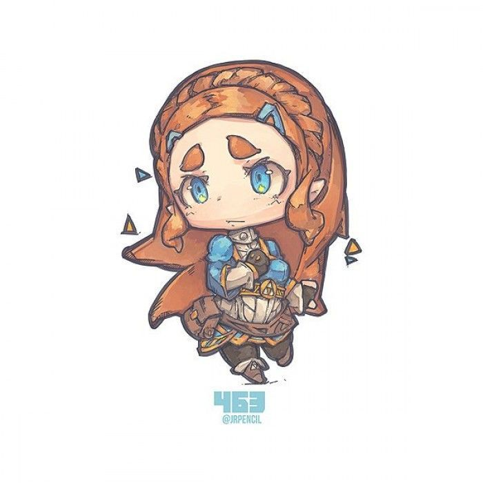 Zelda Breath Of The Wild Dessiner Zelda En Mode Chibi