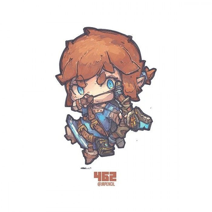 Zelda Breath Of The Wild : Dessiner Link en version chibi !