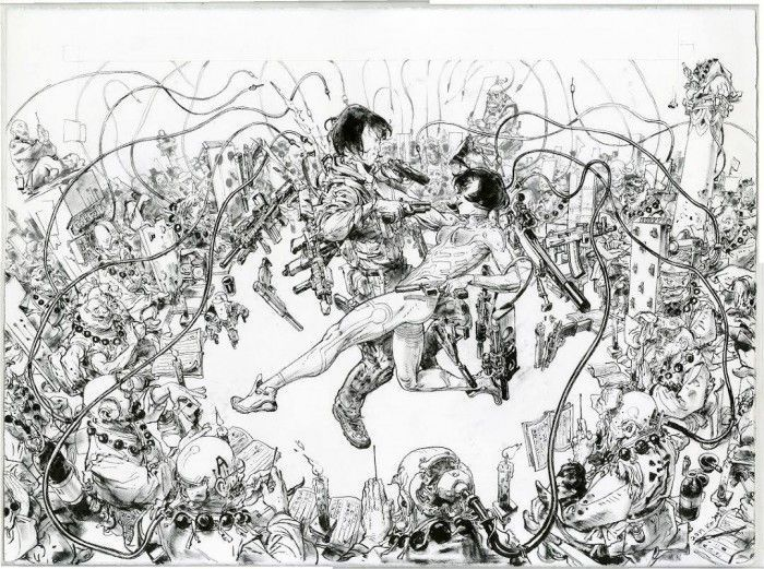 Kim Jung Gi dessine Ghost In The Shell !