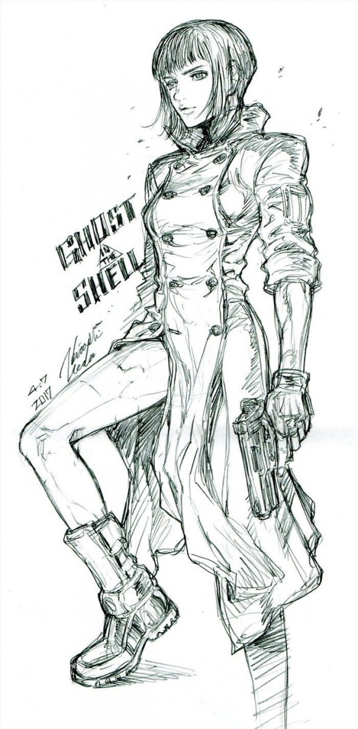 Ghost In The Shell dessiné par le mangaka de Tiger & Bunny !