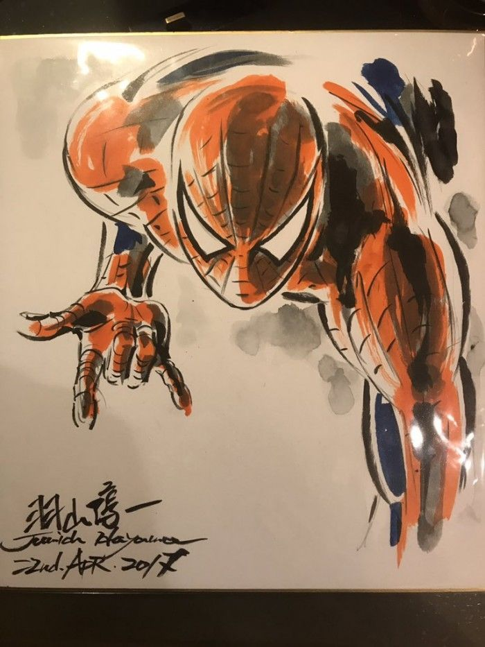 Dessins Comics sur Shikishis : Spider Man, Iron Man et Batman !