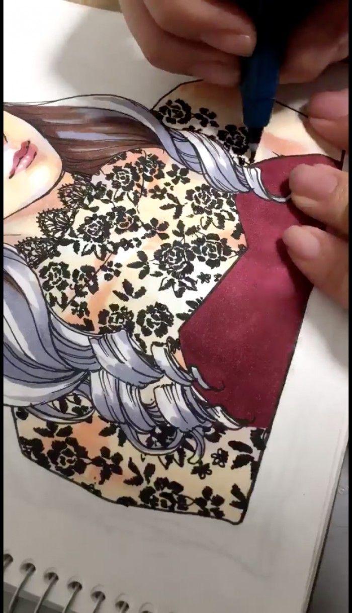 Dentelle Dessin comment dessiner de la dentelle noire motif fleurs ?