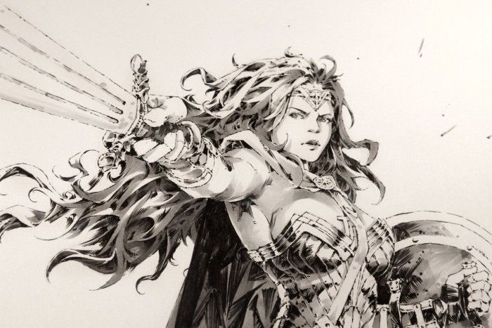 Wonder Woman : Dessin aux feutres Copic