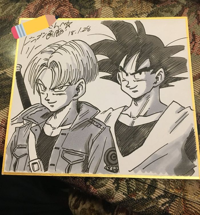 Dessins Dragon Ball sur shikishis
