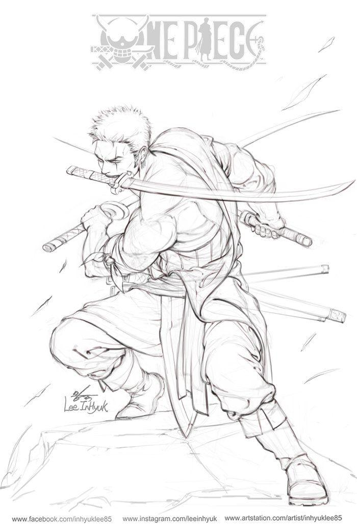 Dessins de inhyuk lee one piece fullmetal alchemist batman - Zoro one piece dessin ...