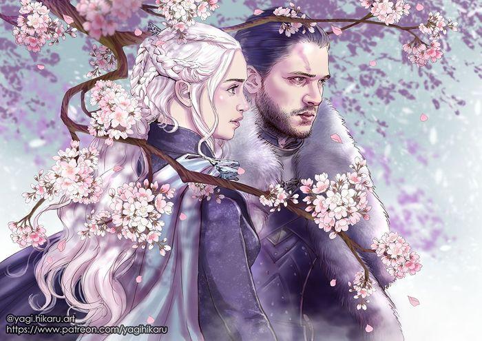 Dessins fanart Game Of Thrones au Japon