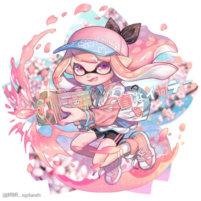 Dessins Splatoon et le printemps
