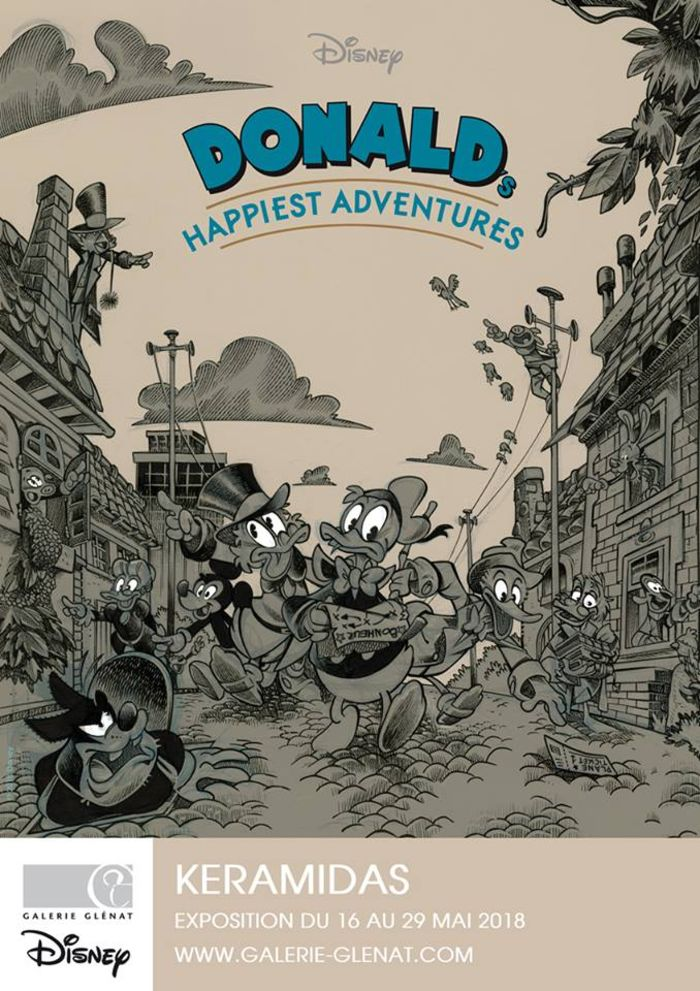 Donald's Happiest Adventures : Live drawing de Nicolas Keramidas le 16 mai à 18 h à la galerie Glénat