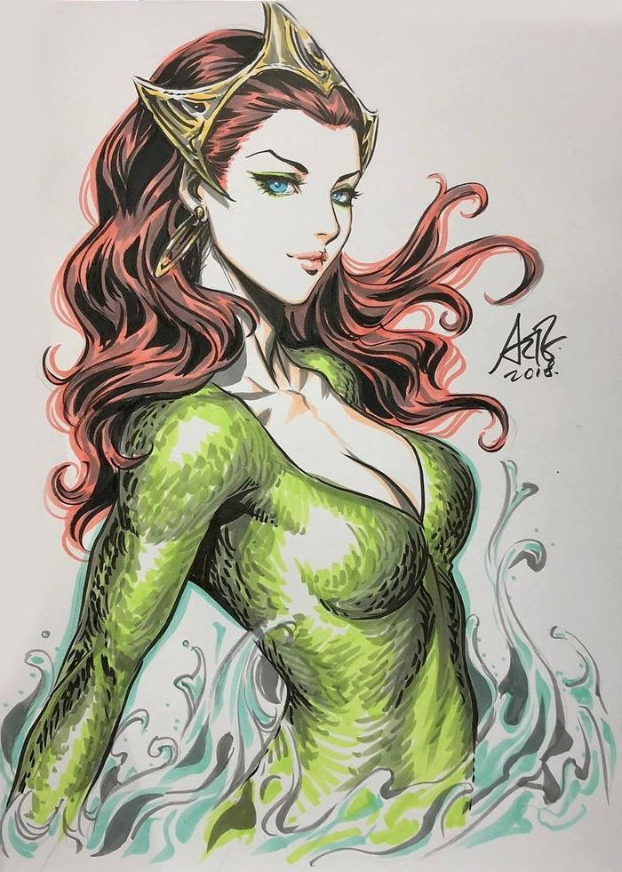 Dessins Artgerm : Mera, Sailor Moon, Zatanna, Superman