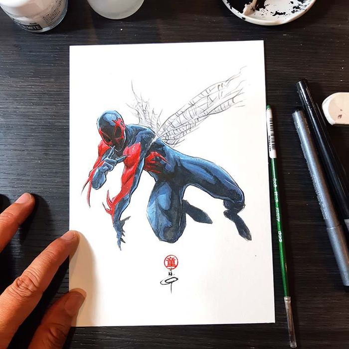 Dessiner les comics : SPIDERMAN 2099 par Andie Tong