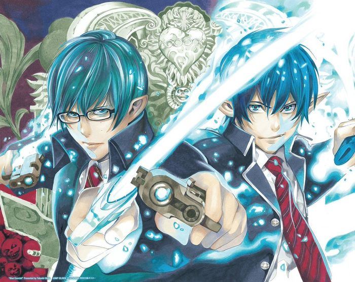 Dessin Blue Exorcist par Takeshi Obata le mangaka de Bakuman, Death Note, Platinum End