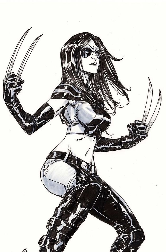 Dessiner les comics : X23, Ms Marvel, Miss Thor, Spider-man, Storm par Takeshi Miyazawa