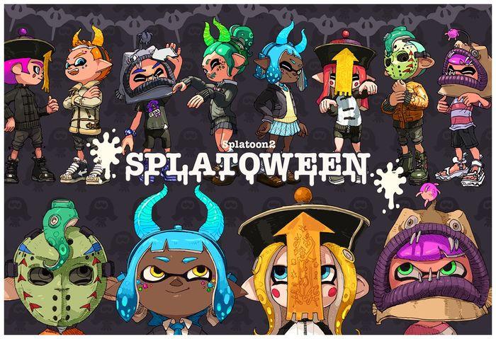 Dessins Splatoween Splatoon Fête Halloween Partie 3