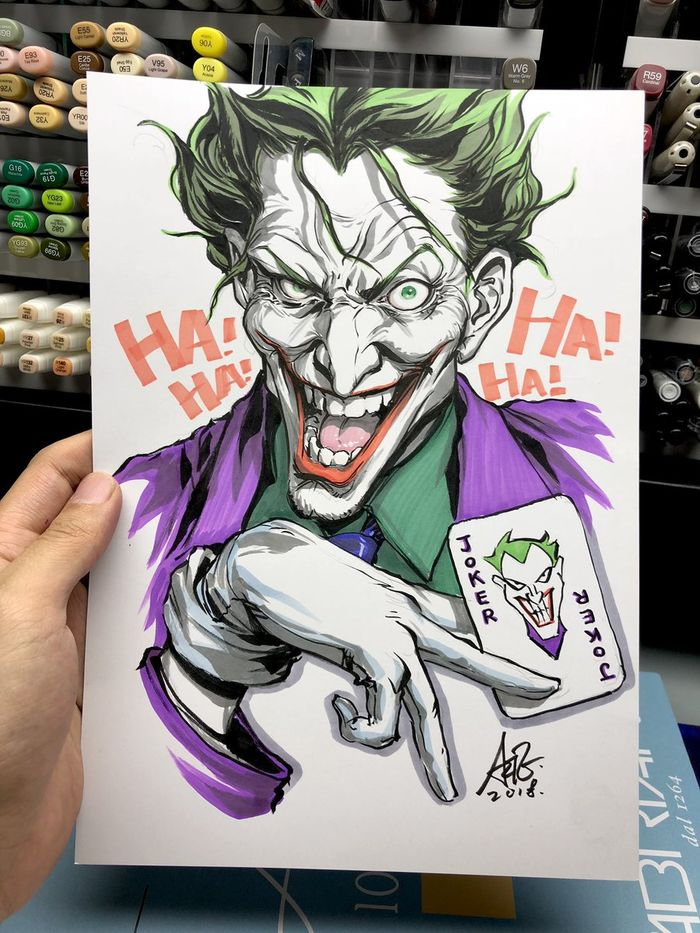 Dessins Artgerm : Le Joker, Alucard, Ken Le Survivant, Betty Boop, Olive