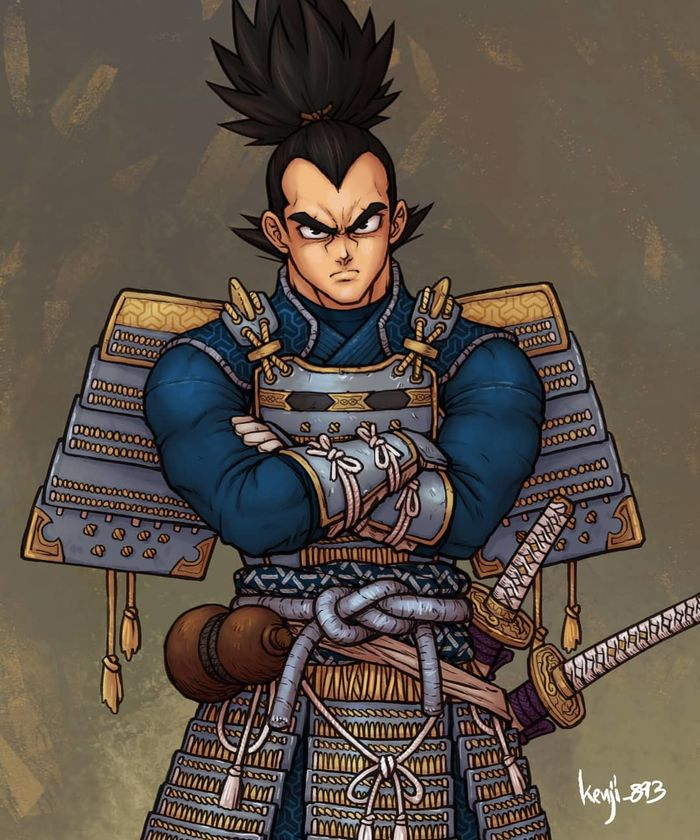 Dragon Ball : Dessin Vegeta en samurai par Guillem Daudén