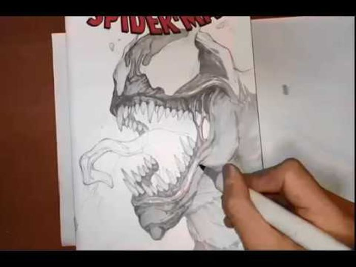 Youtuber dessin : InHyuk Lee dessine Venom (Marvel)