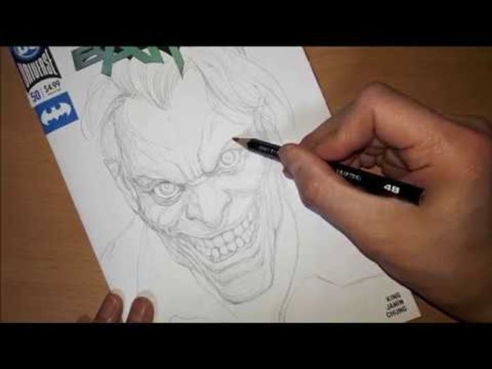 Youtuber dessin : InHyuk Lee dessine Le Joker (DC comics)