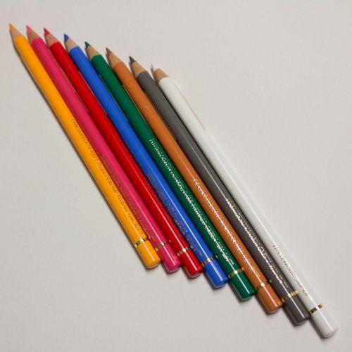 Set 8 crayons polychromos fiche produit sur tvhland for Dessin miroir bris