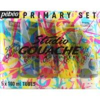 Pack de 5 gouaches studio PEBEO