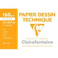Papier Dessin Technique Clairefontaine A4 160g