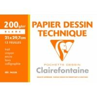 Papier Dessin Technique Clairefontaine A4 200g