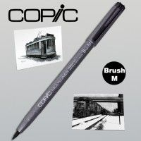 Copic Multiliner noir Brush moyen (BM)