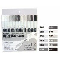 Set 12 Neopiko-Color - Tons Gris