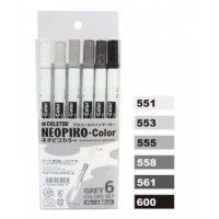 Set 6 Neopiko-Color - Tons Gris