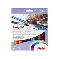 Set de 24 crayons de couleurs aquarellables Pentel