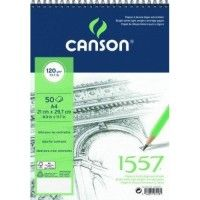 CANSON 1557 Extra Blanc Spirale A4 120g 50f
