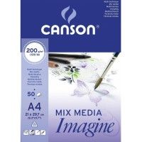 CANSON Mix Media Imagine A4 200g 50f