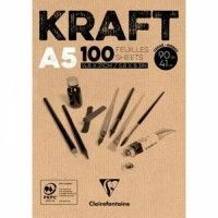 Bloc Kraft Clairefontaine A5 100F 90g