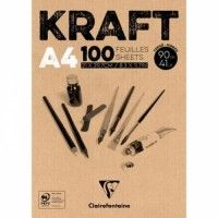 Bloc Kraft Clairefontaine A4 100F 90g