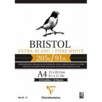 Bloc bristol Clairefontaine A4 20F 205g