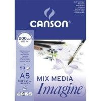 CANSON Mix Media Imagine A5 200g 50f