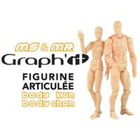Kits figurines articulées Miss et Mister Graph It