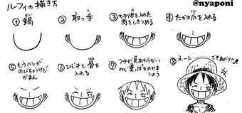 One Piece Apprendre à Dessiner Monkey D Luffy Avec Nyaponi
