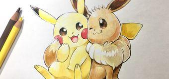 Pokémon Lets Go Dessin De Pikachu Et Evoli Au Crayon De