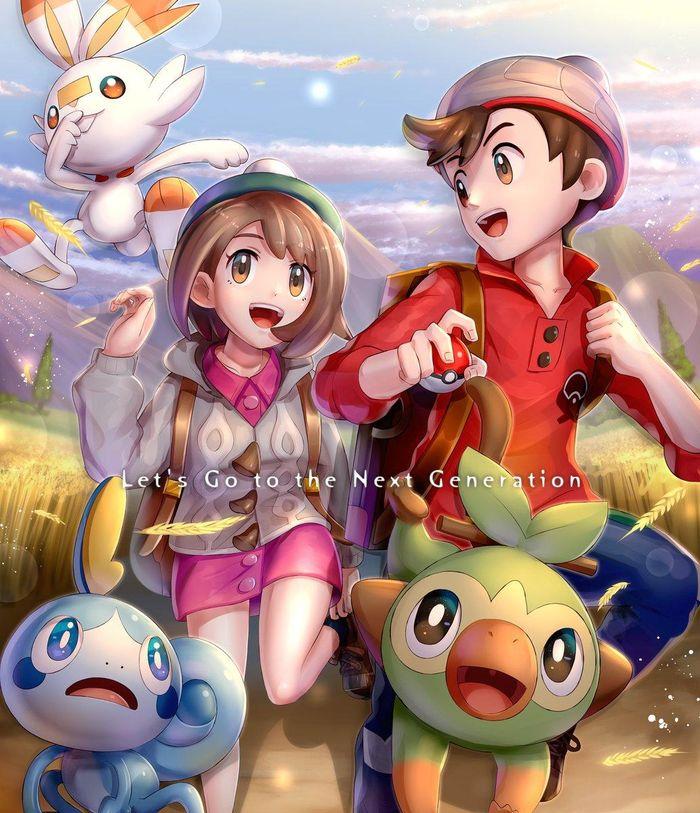 Fanart Pokemon Epee Et Pokemon Bouclier Partie 2