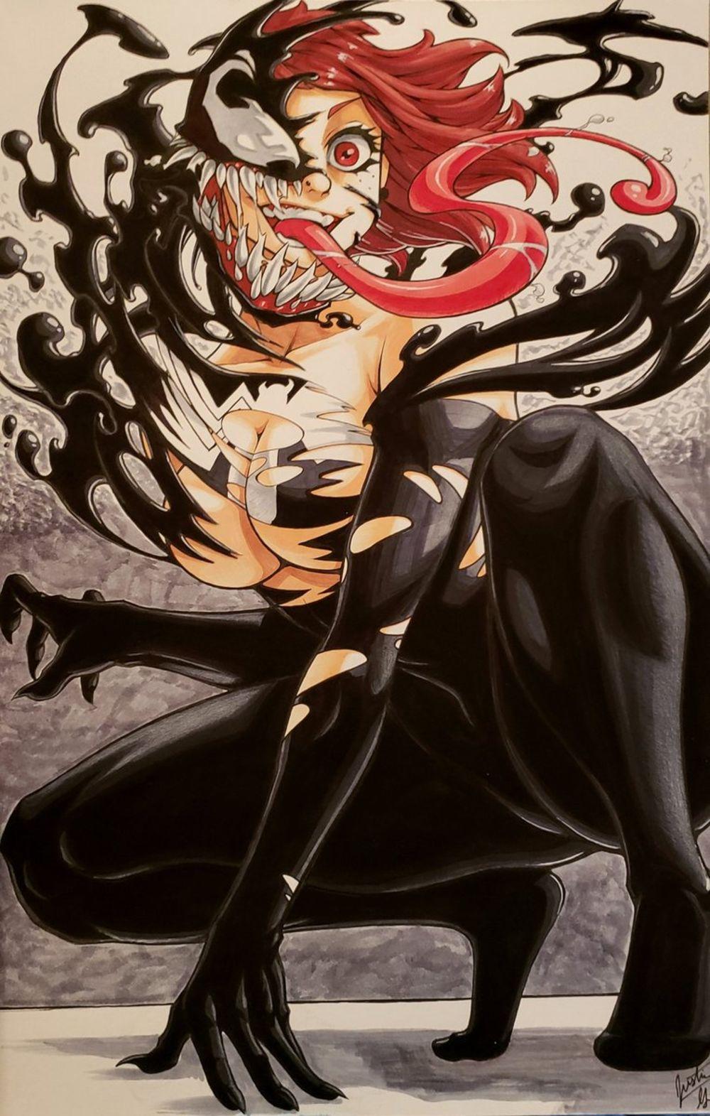 Dessin Venom Feminin Par Justin George