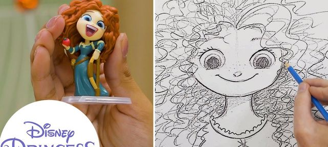 Tuto comment dessiner Princesse Disney Merida