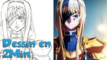 Dessin en 2 min:  Alice Schuberg - Sword Art Online: Alicization