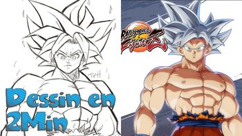 Dessin en 2 min: Sangoku Ultra Instinct - Dragon Ball Super