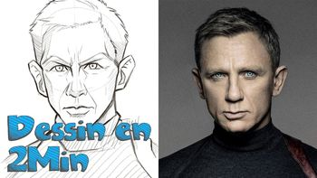 Dessin en 2 min: James Bond - Daniel Craig