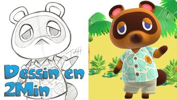 Dessin en 2min: Tom Nook - Animal Crossing